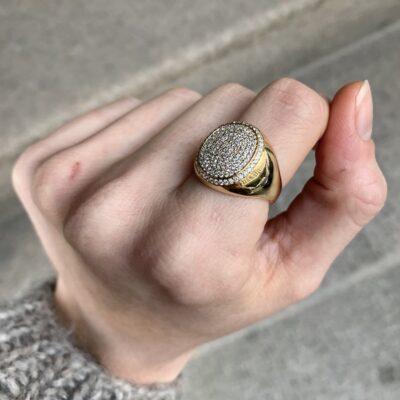 DIAMONDS PAVE SIGNET RING
