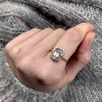 Lavender Pink Tourmaline ring