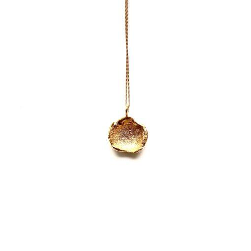 Flame medium gold necklace