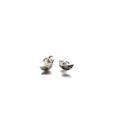 Mini half moon silver earrings