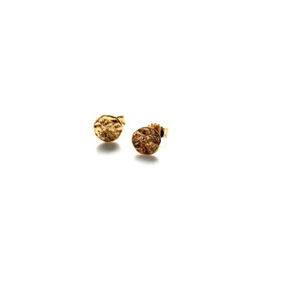 Mini moon gold earrings