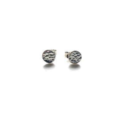 Mini moon silver earring