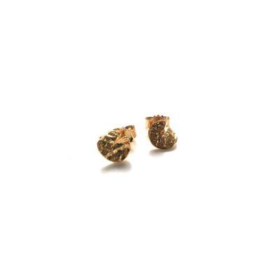 Flame mini gold earrings
