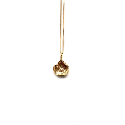 Flame mini gold necklace