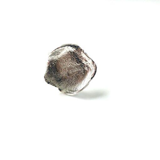 Flame medium silver ring