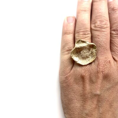 Flame giant gold ring