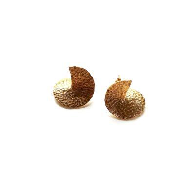 Flame mega gold earrings