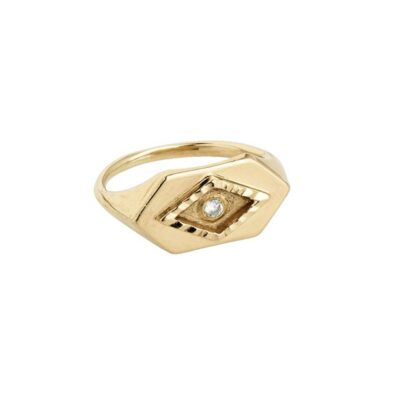 Eye power gold ring