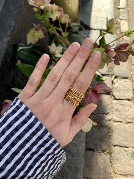 Gold champagne ring