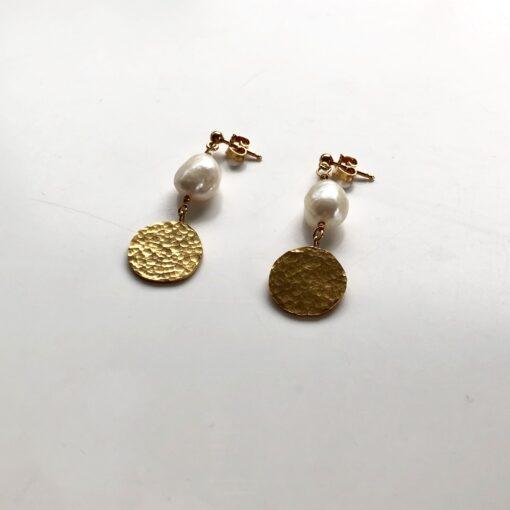 Simone gold earrings