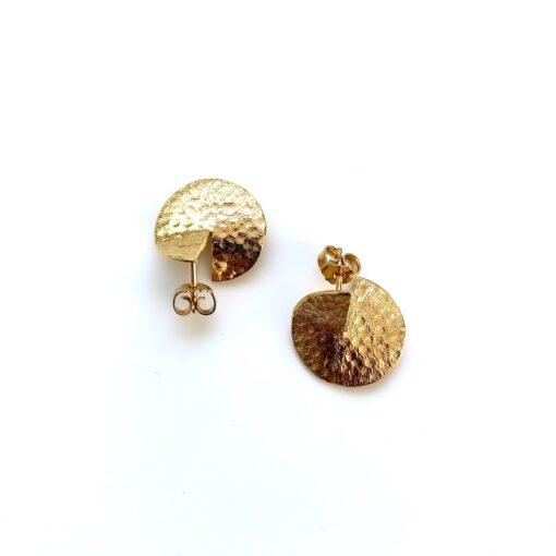 Flame medium gold earrings