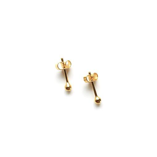 Dot gold earring