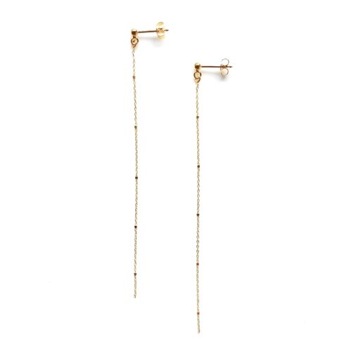 Swing gold earring